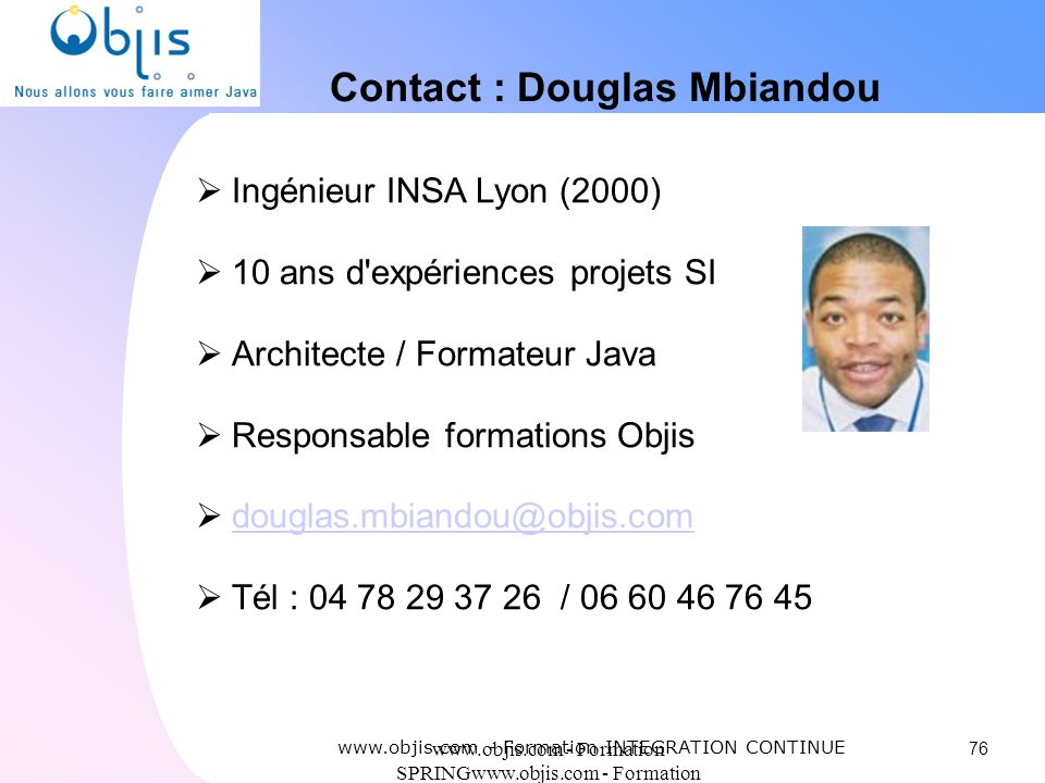 Contact : Douglas Mbiandou