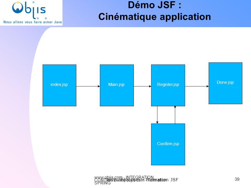 Démo JSF : Cinématique application