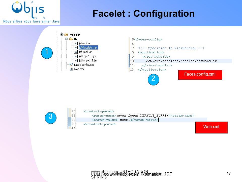 Facelet : Configuration