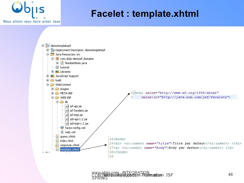 Facelet : template.xhtml