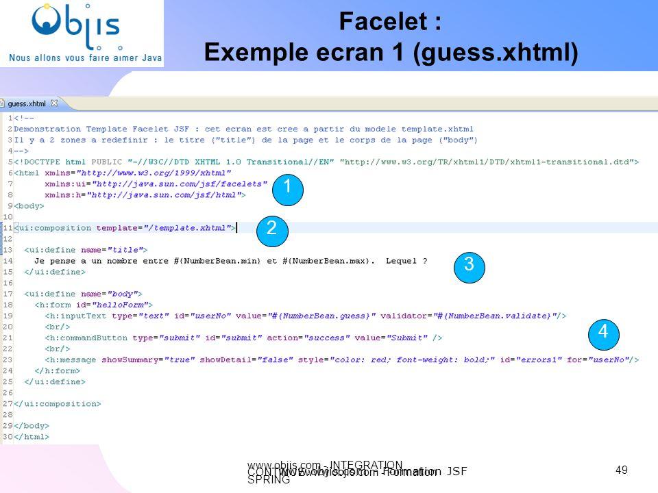 Exemple ecran 1 (guess.xhtml)