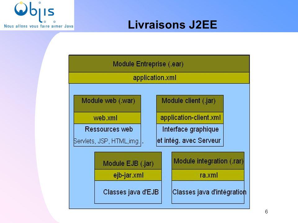 Livraisons J2EE 6 6