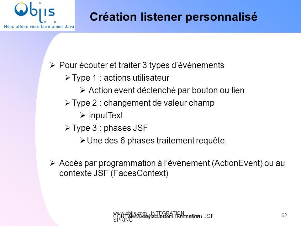 Création listener personnalisé