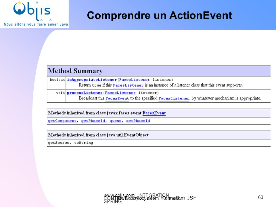Comprendre un ActionEvent