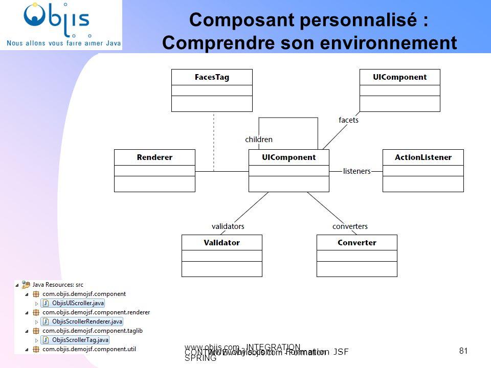 Composant personnalisé : Comprendre son environnement