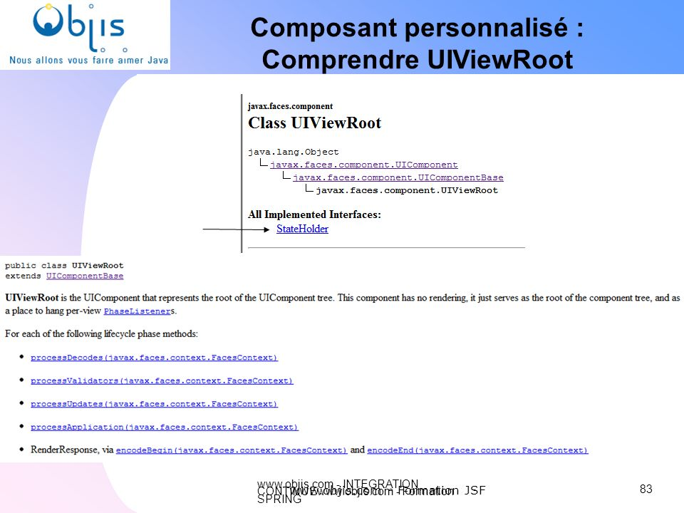 Composant personnalisé : Comprendre UIViewRoot