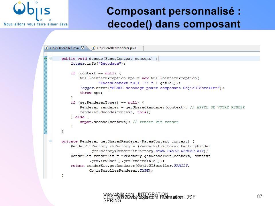 Composant personnalisé : decode() dans composant