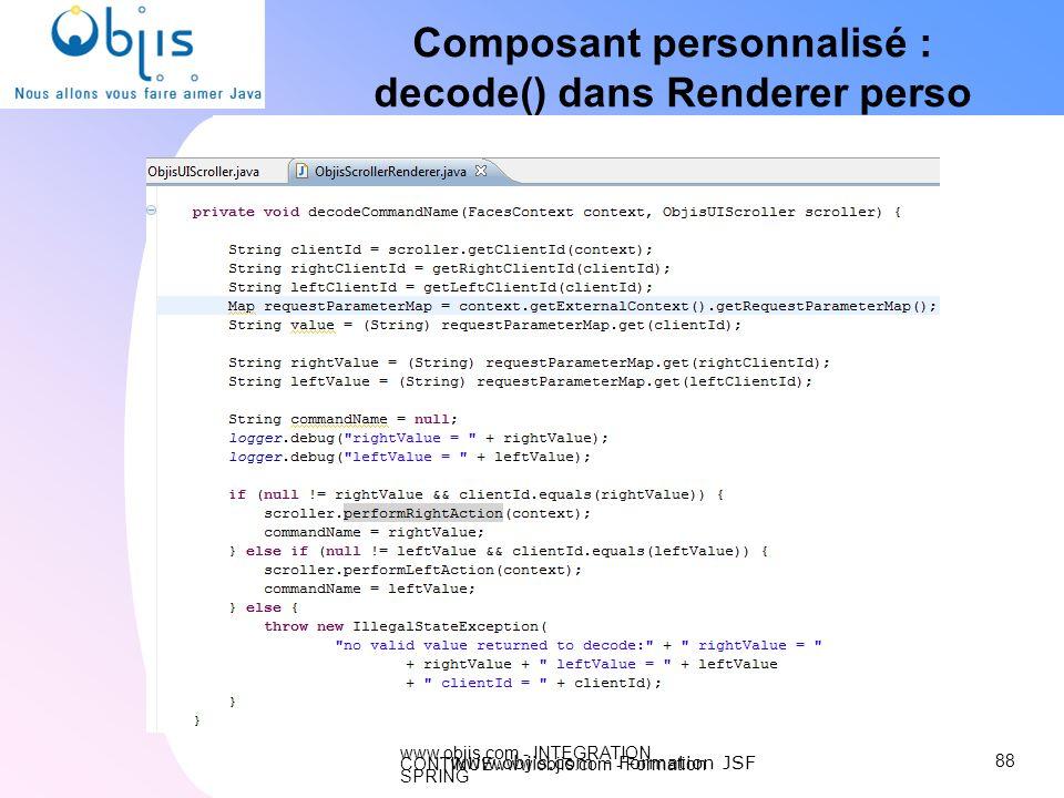 Composant personnalisé : decode() dans Renderer perso
