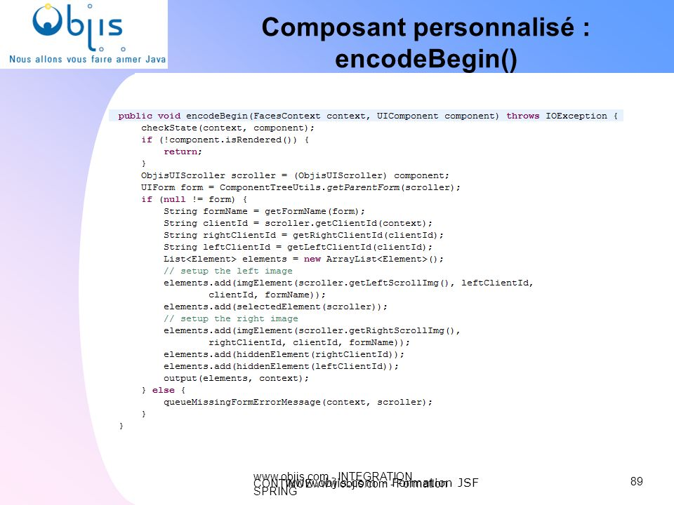 Composant personnalisé :