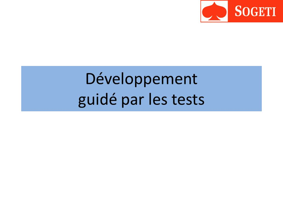 Développement guidé par les tests