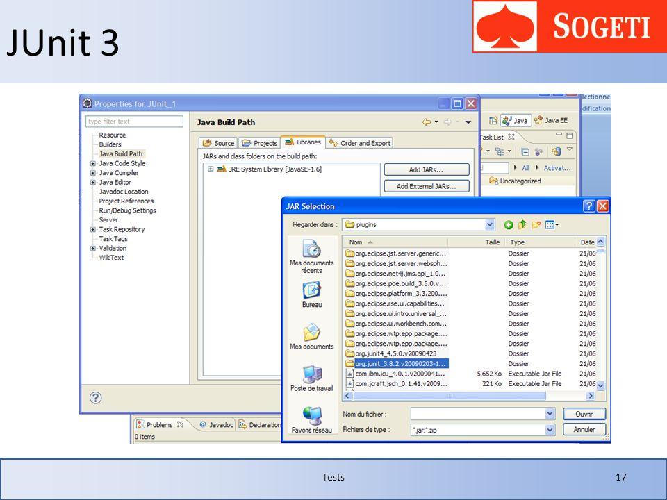 JUnit 3 Tests 17