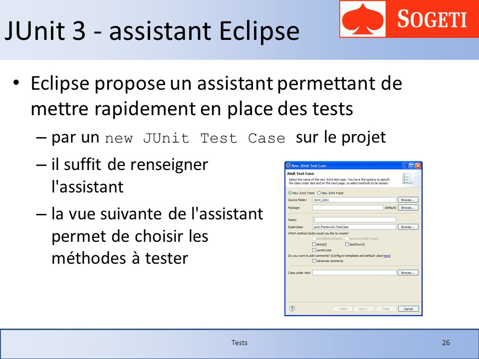 JUnit 3 - assistant Eclipse