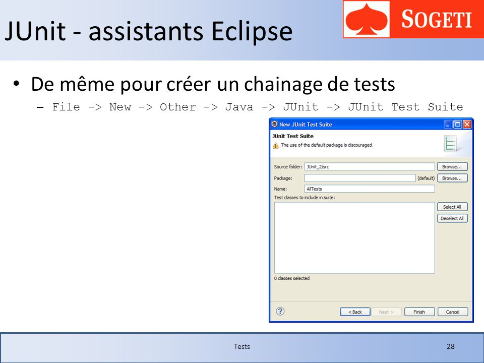 JUnit - assistants Eclipse