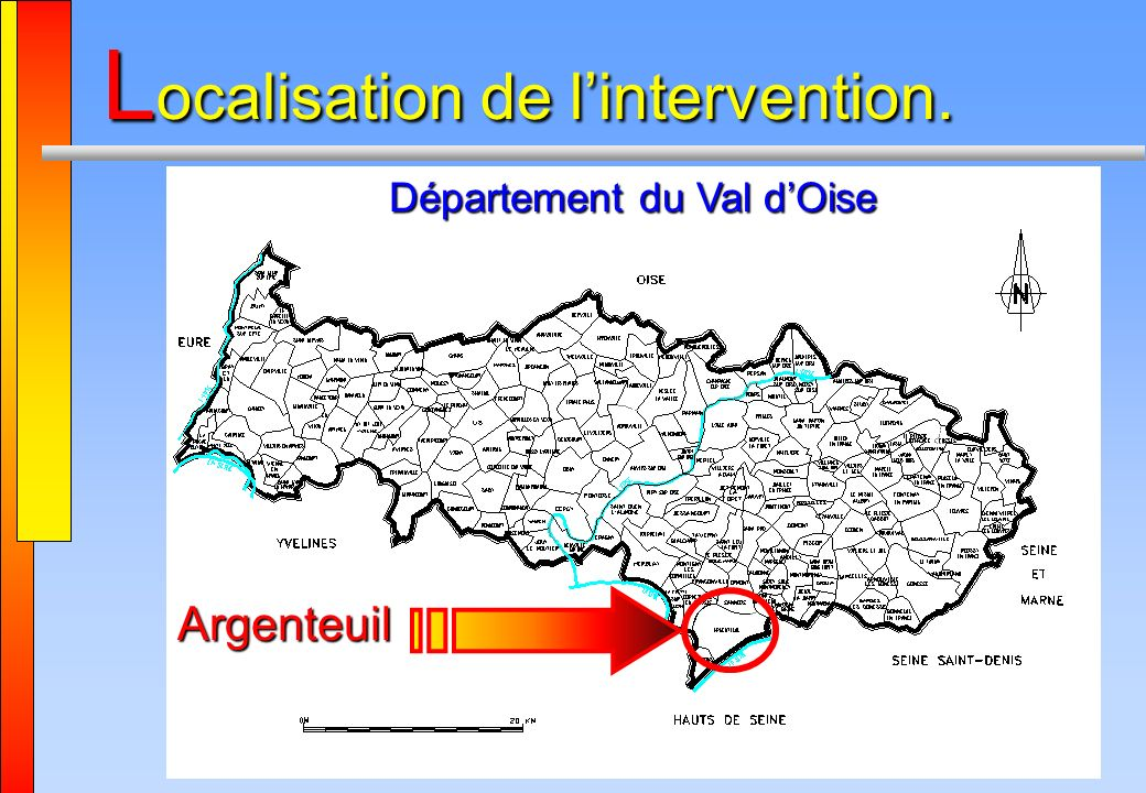 Localisation de l'intervention.