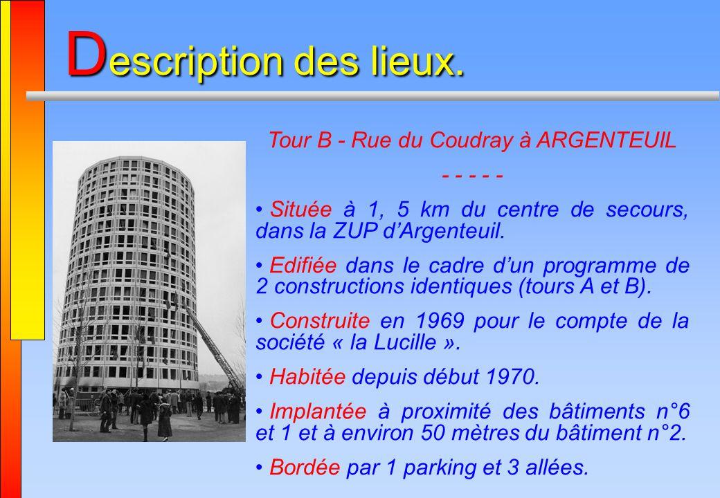 Tour B - Rue du Coudray à ARGENTEUIL