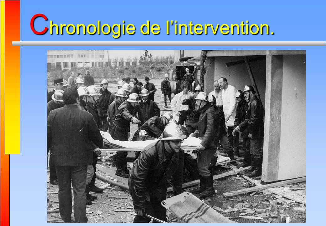 Chronologie de l'intervention.