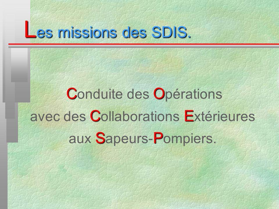 Les missions des SDIS. avec des Collaborations Extérieures