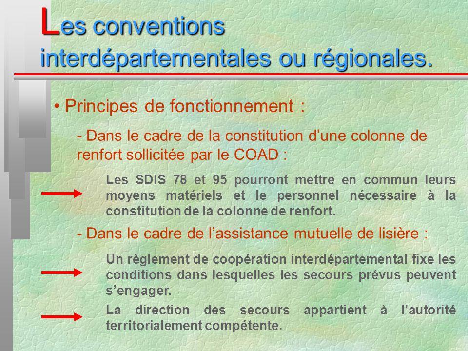 Les conventions interdépartementales ou régionales.