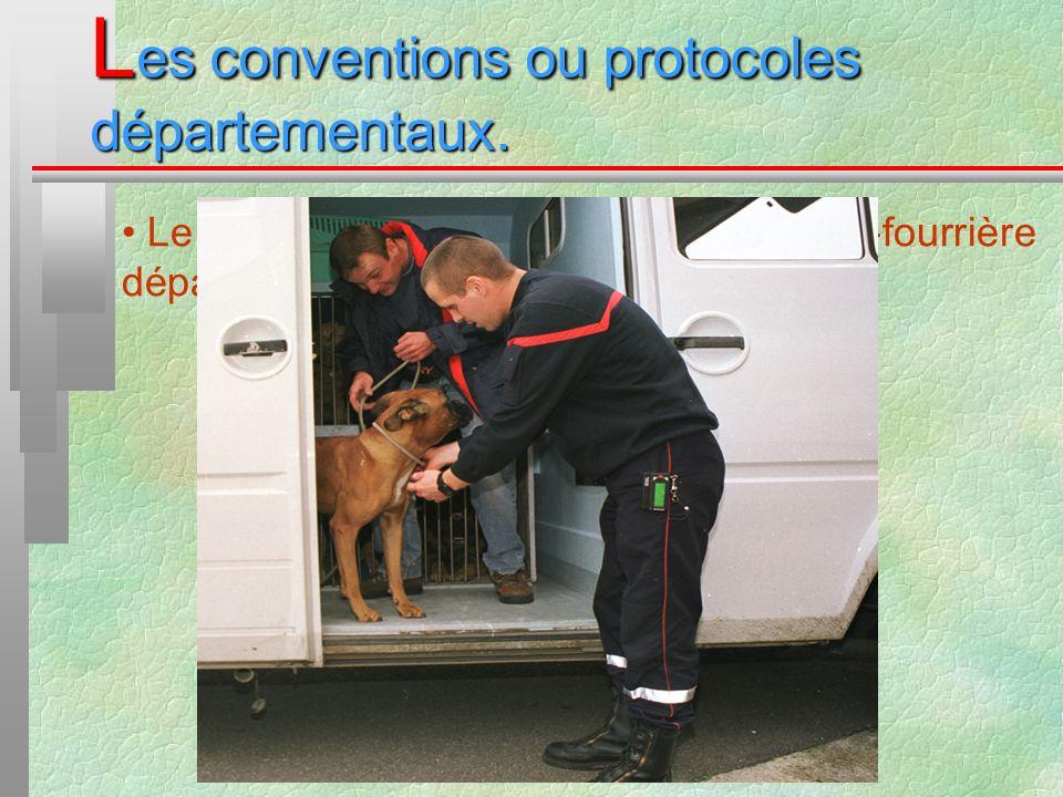 Les conventions ou protocoles départementaux.