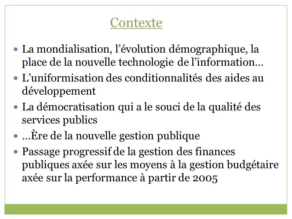 Contexte La mondialisation, l'évolution démographique, la place de la nouvelle technologie de l'information…