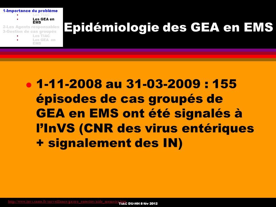 Epidémiologie des GEA en EMS
