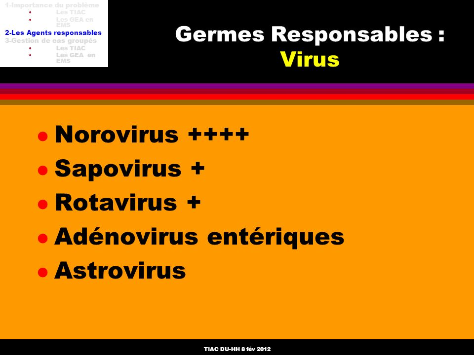 Germes Responsables : Virus