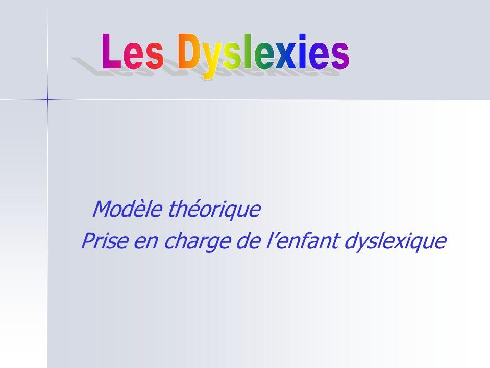Modèle théorique Prise en charge de l'enfant dyslexique