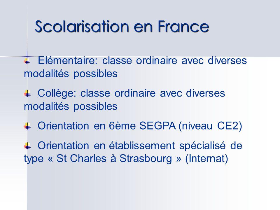 Scolarisation en France