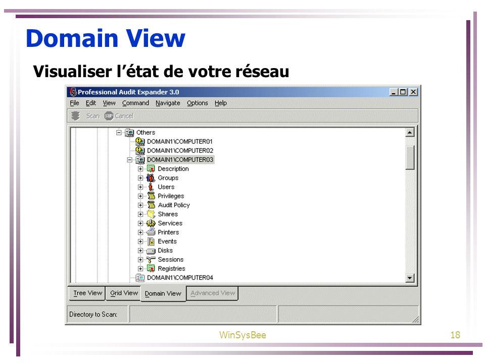 Domain View Visualiser l'état de votre réseau WinSysBee