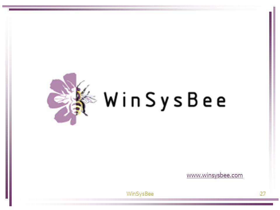 www.winsysbee.com WinSysBee
