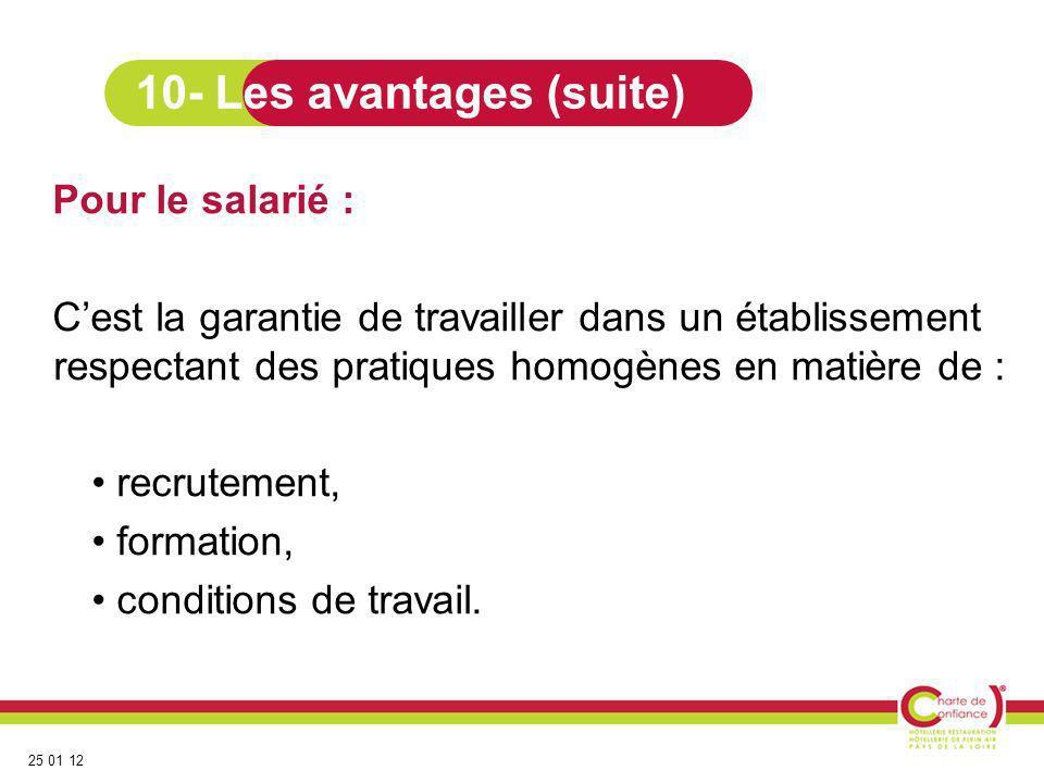 10- Les avantages (suite)