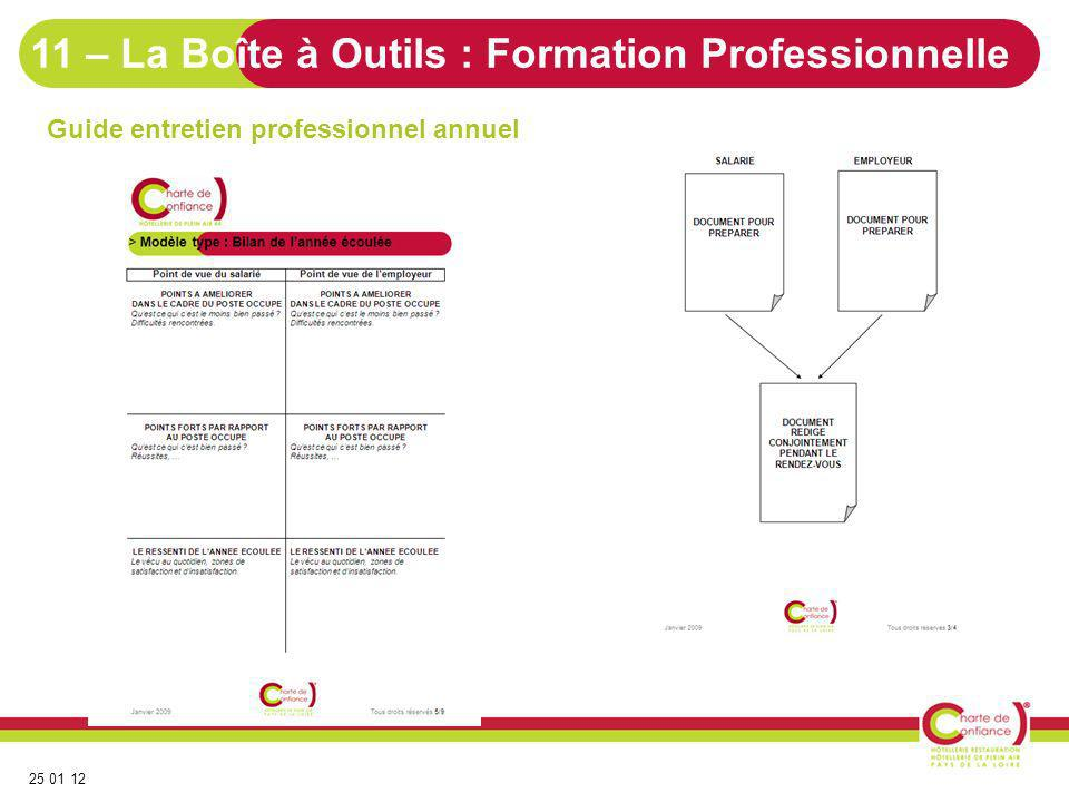 11 – La Boîte à Outils : Formation Professionnelle
