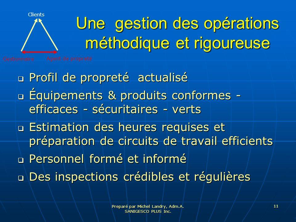 Une gestion des opérations méthodique et rigoureuse