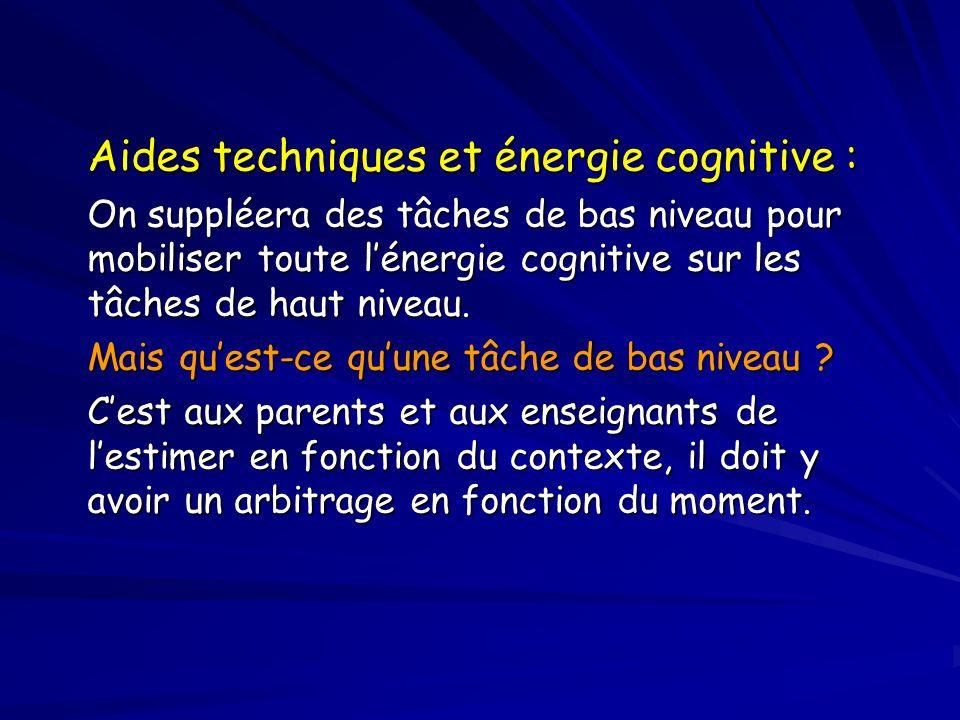 Aides techniques et énergie cognitive :