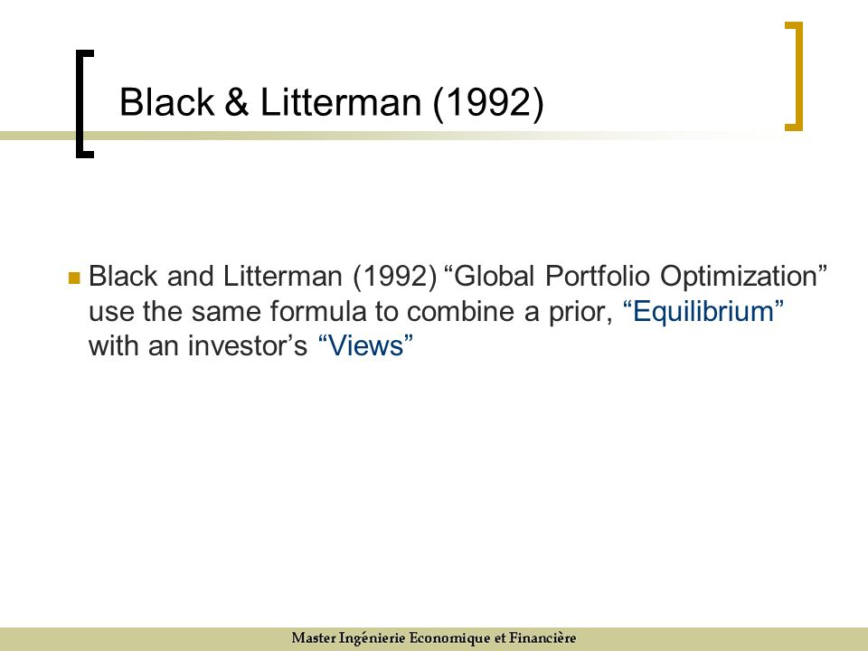 Black & Litterman (1992)