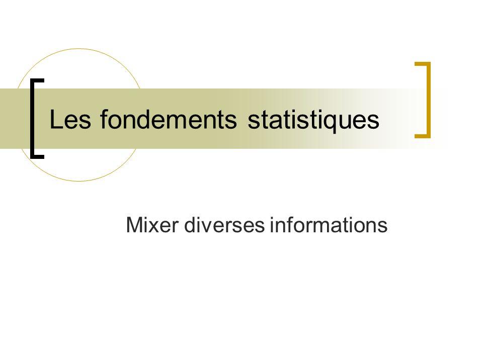Les fondements statistiques