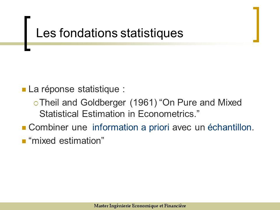 Les fondations statistiques
