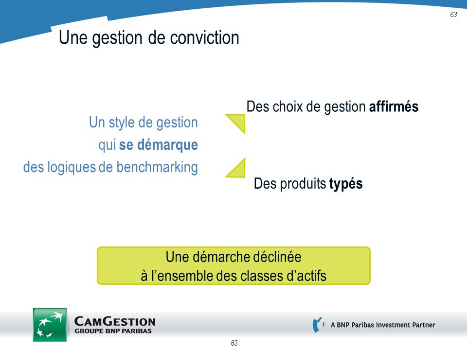 Une gestion de conviction