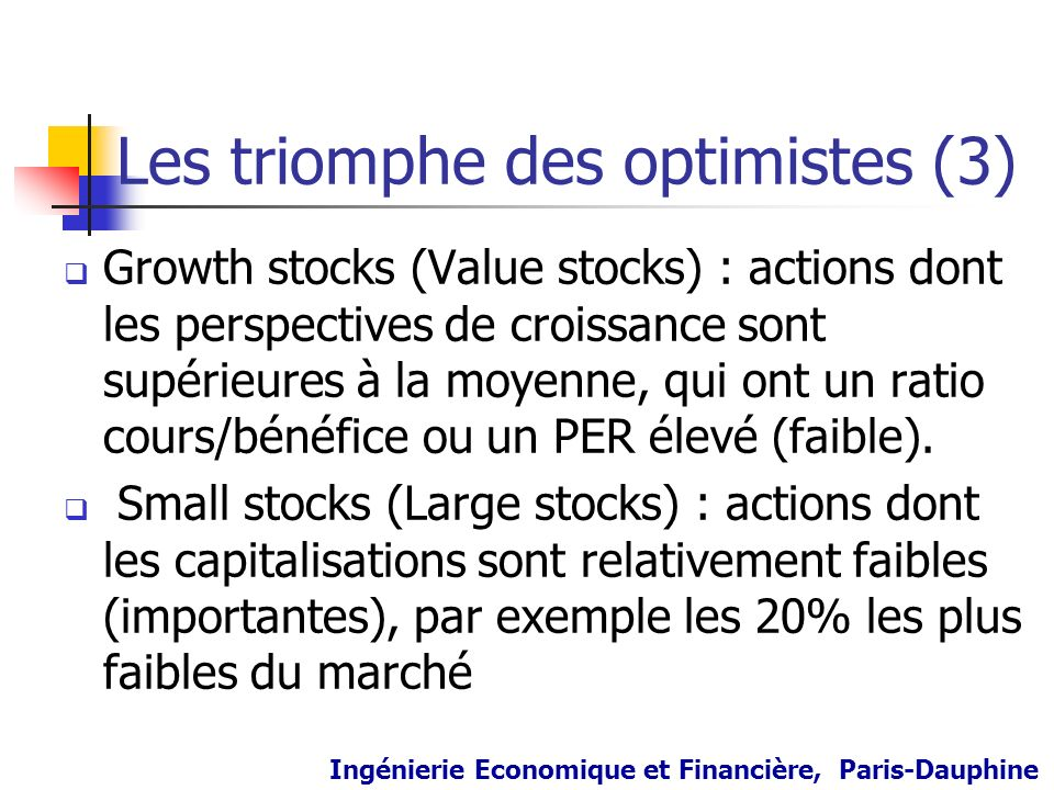 Les triomphe des optimistes (3)