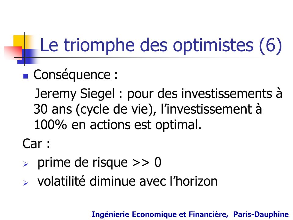 Le triomphe des optimistes (6)