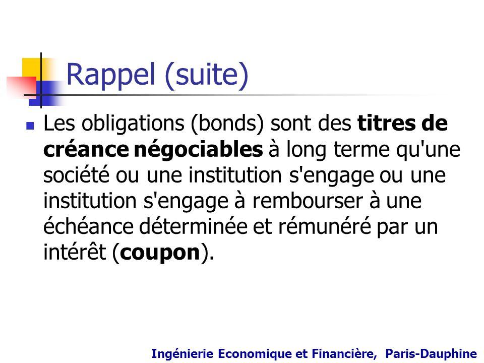 Rappel (suite)
