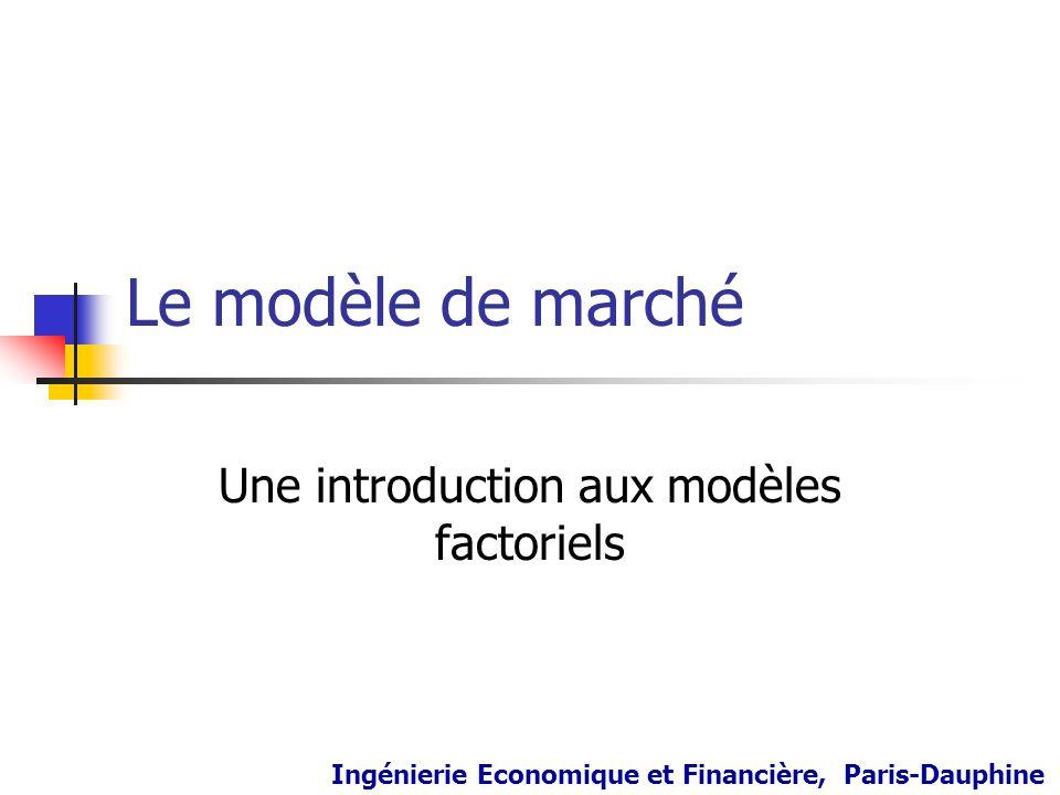 Une introduction aux modèles factoriels