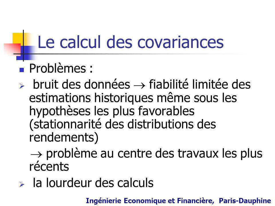 Le calcul des covariances
