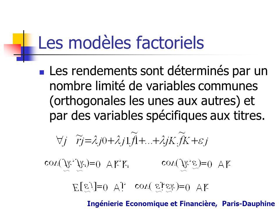 Les modèles factoriels