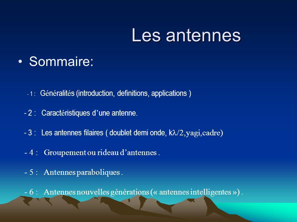 Les antennes Sommaire: - 2 : Caractéristiques d'une antenne.