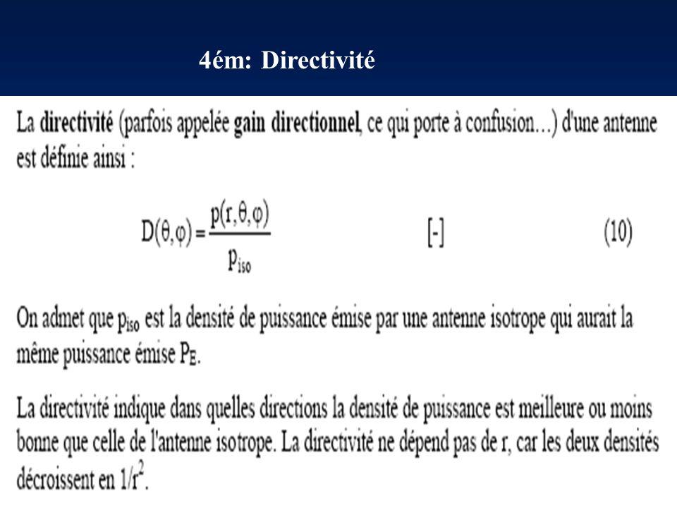 4ém: Directivité