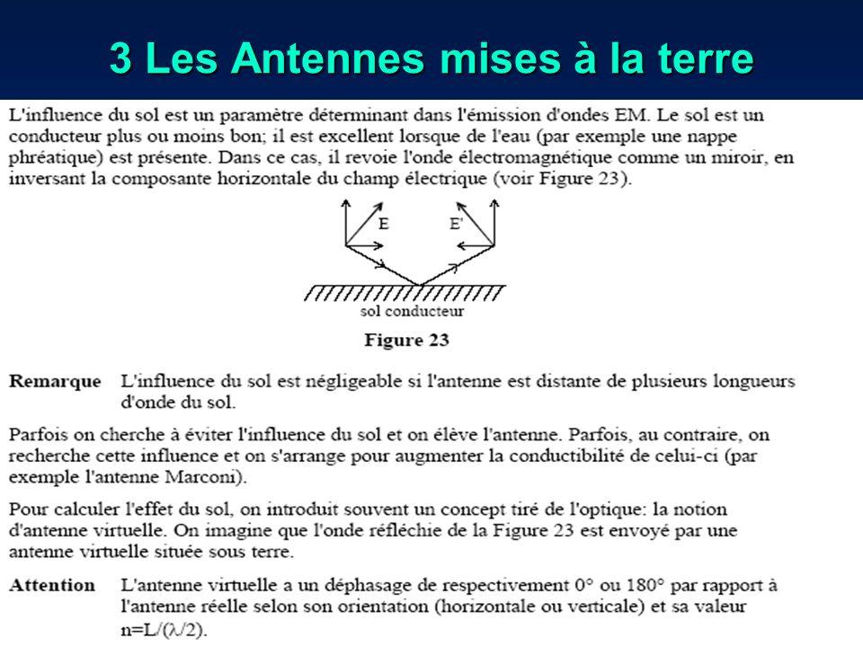 3 Les Antennes mises à la terre