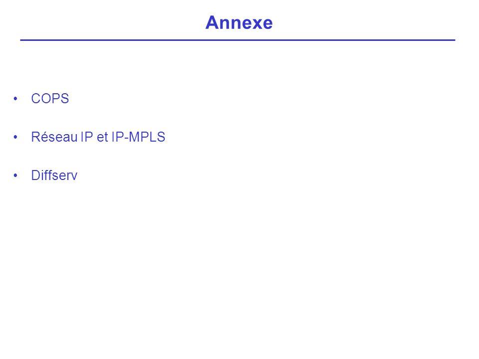 Annexe COPS Réseau IP et IP-MPLS Diffserv