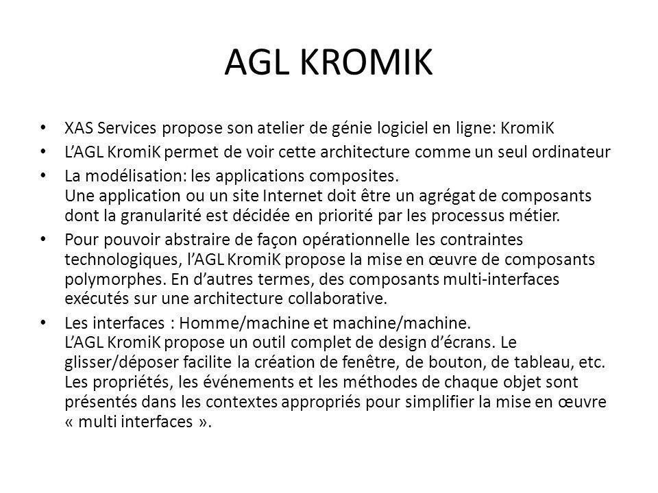 AGL KROMIK XAS Services propose son atelier de génie logiciel en ligne: KromiK.