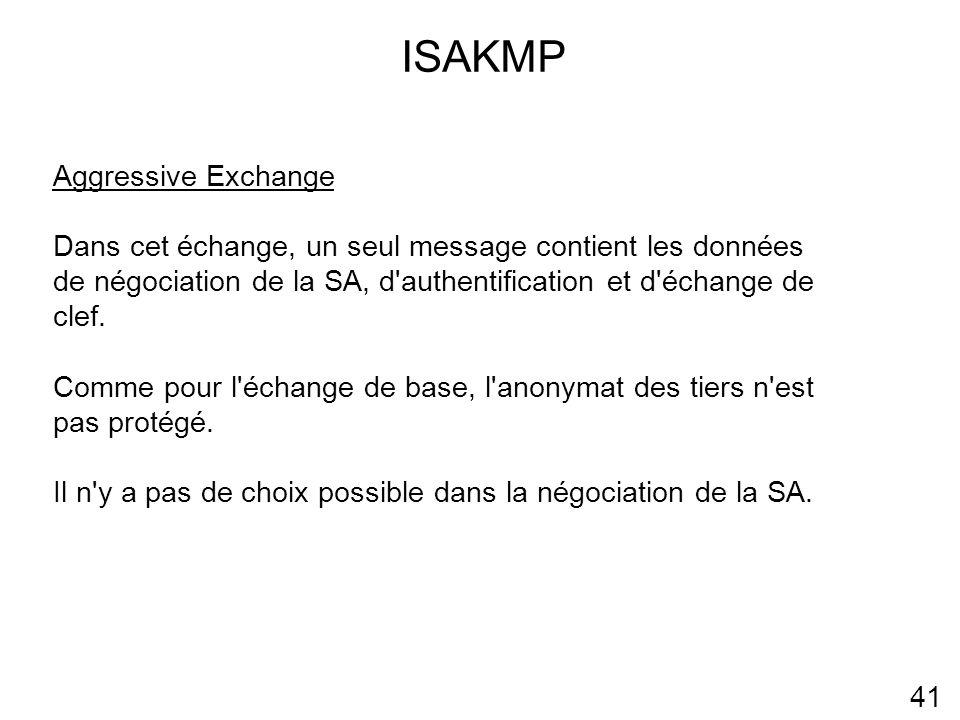 ISAKMP Aggressive Exchange